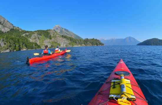 Kayak on Nahuel Huapi lake ,Bariloche, North Patagonia, Argentina